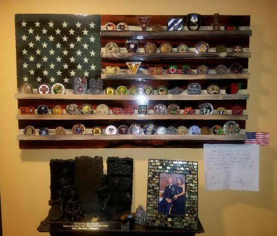 Old Glory Challenge Coin Holder