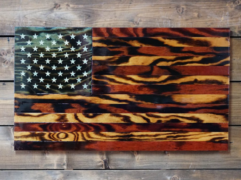 Handmade Wooden American Flags Veteran Made Woodworks