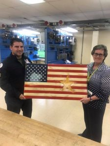 Presenting our gift to Gold Star Mother Carrie Farley