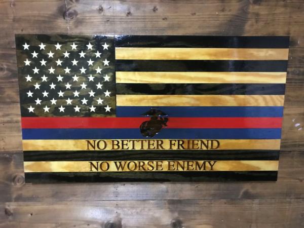 Maddog - Handmade Wooden American Flags