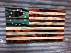 Old Glory Betsy Ross - Handmade Wooden American Flags