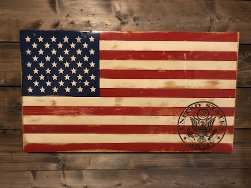Free standard engraving with any flag purchase